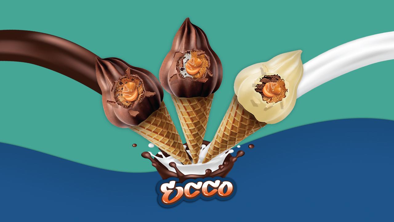 Cono helado de chocolate Ecco